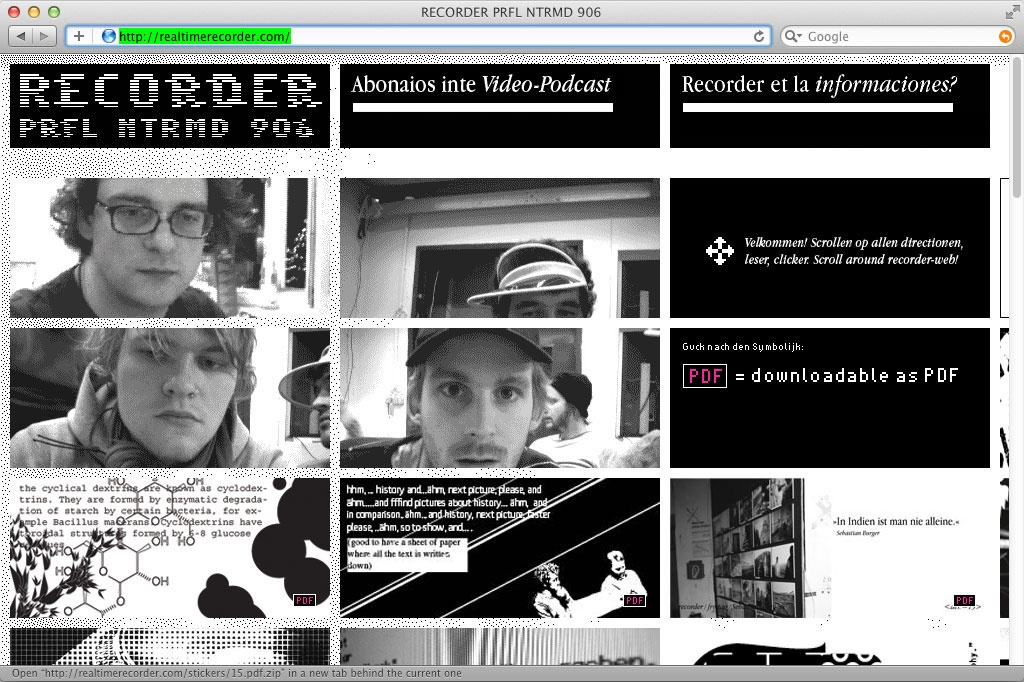 RECORDER 2009 – Website